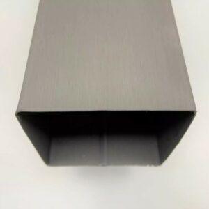 BUIS VIERKANT QUARTZ-ZINC 8X8CM 0.8MM 2M