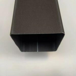 BUIS VIERKANT ANTHRA-ZINC 8X8CM 0.8MM 2M